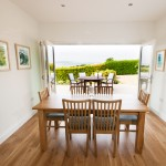 dining area with valley views